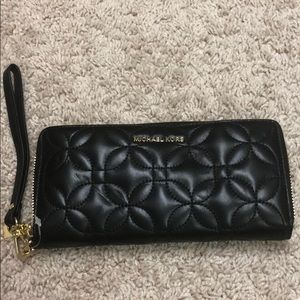 Brand new black leather Michael Kors wristlet